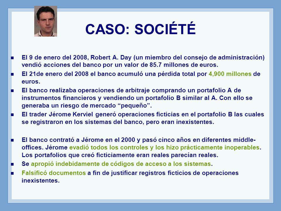 CASO: SOCIÉTÉ El 9 de enero del 2008, Robert A.