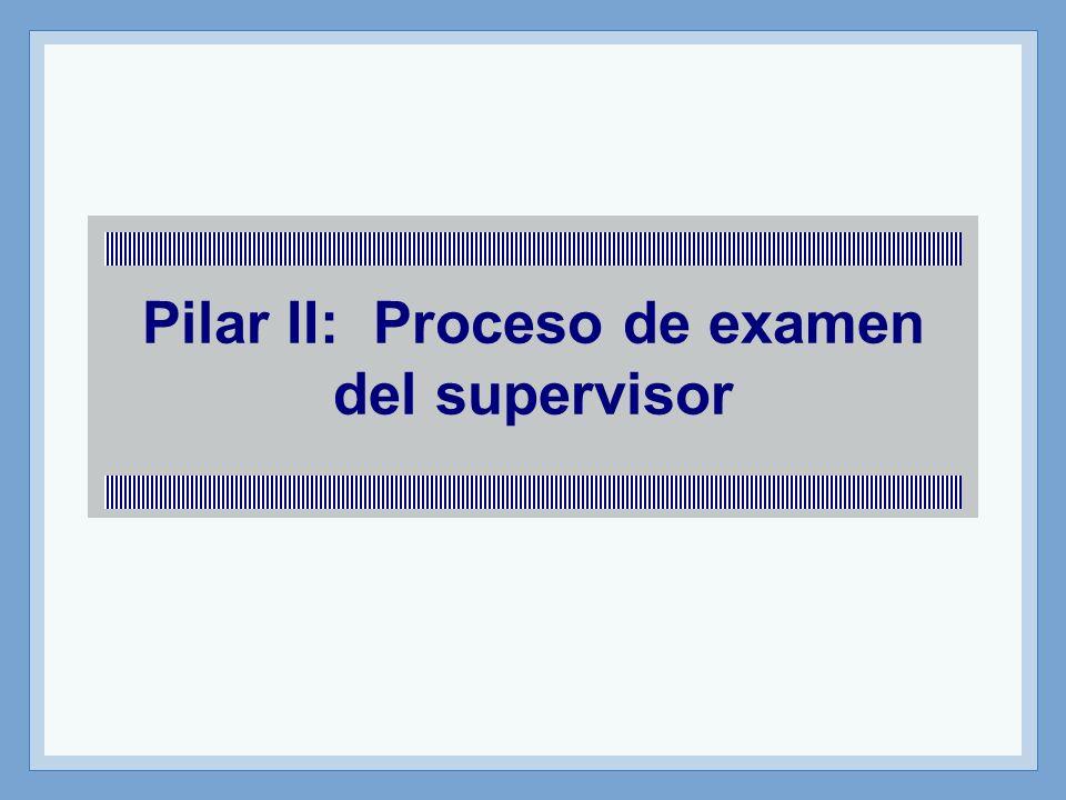 Pilar II: Proceso de examen del supervisor