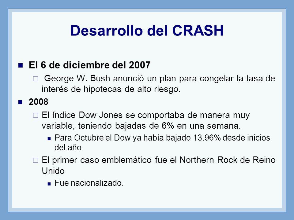 Desarrollo del CRASH El 6 de diciembre del 2007 George W.