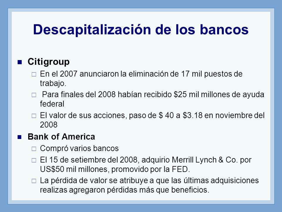 Citigroup En el 2007 anunciaron la eliminación de 17 mil puestos de trabajo.