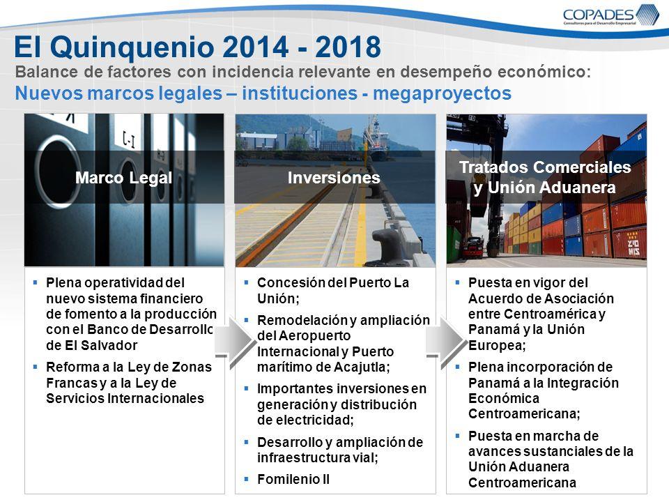 7 Page 7 Plena operatividad del nuevo sistema financiero de fomento a la producción con el Banco de Desarrollo de El Salvador Reforma a la Ley de Zona