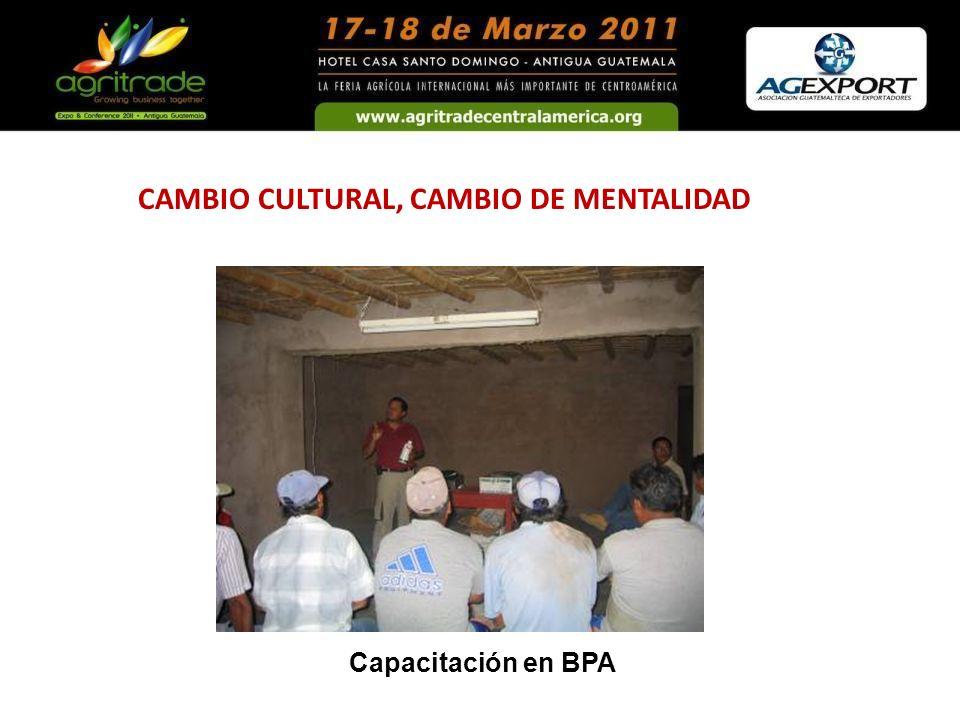 CAMBIO CULTURAL, CAMBIO DE MENTALIDAD Capacitación en BPA