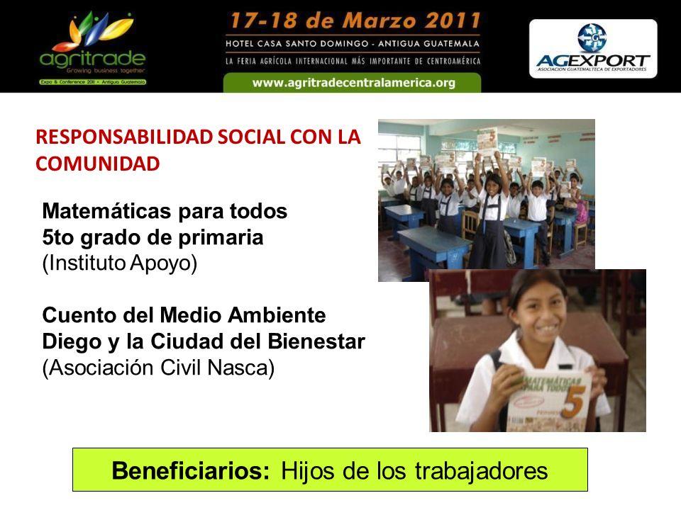 RESPONSABILIDAD SOCIAL CON LA COMUNIDAD Matemáticas para todos 5to grado de primaria (Instituto Apoyo) Cuento del Medio Ambiente Diego y la Ciudad del