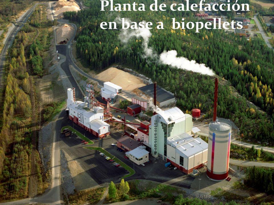 Planta de calefacción en base a biopellets å