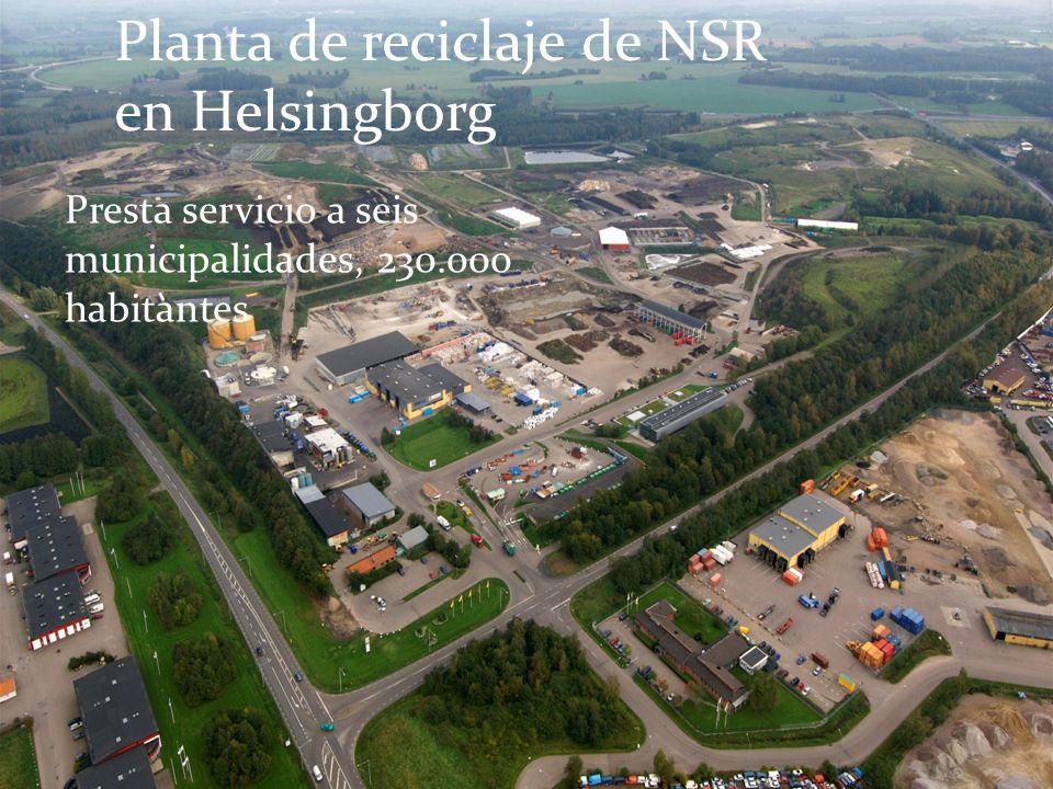 Planta de reciclaje de NSR en Helsingborg Presta servicio a seis municipalidades, 230.000 habitantes