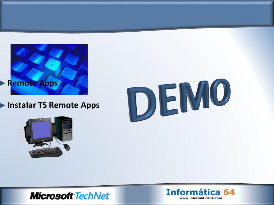Instalar TS Remote Apps Remote Apps