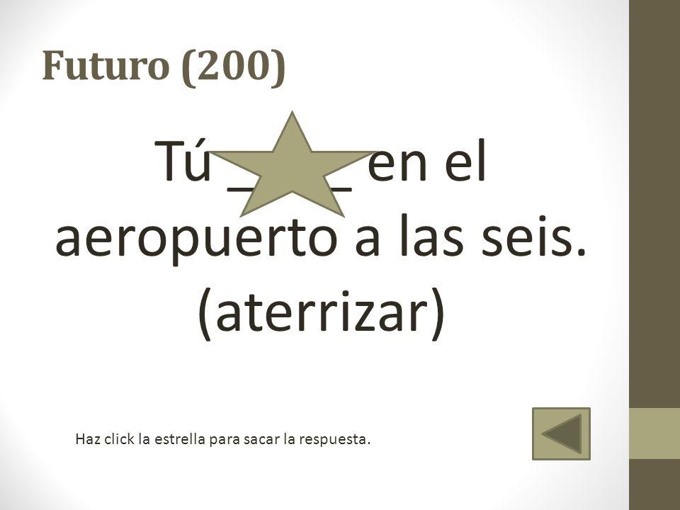 Vocabulario (300) Un lugar donde una persona espera el vuelo o saca información del vuelo.