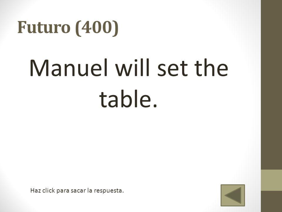 Saldrán tú y Tatiana a las diez de la noche.Futuro (500) Will you & Tatiana leave at 10pm.