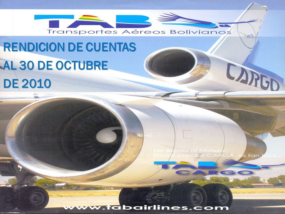 RENDICION DE CUENTAS AL 30 DE OCTUBRE DE 2010