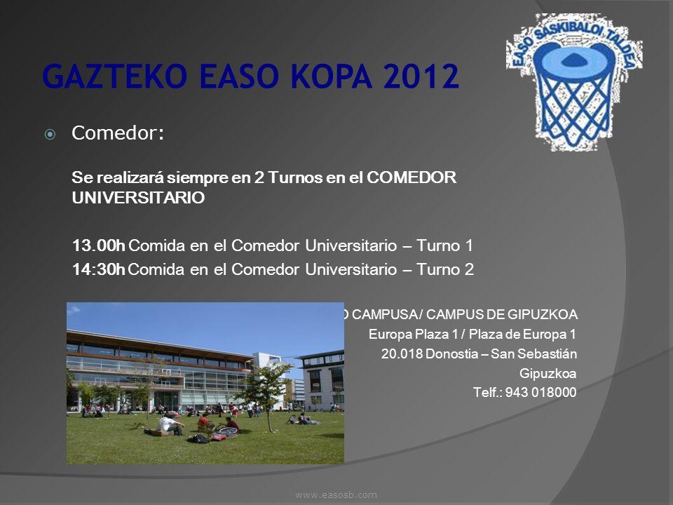 www.easosb.com GAZTEKO EASO KOPA 2012