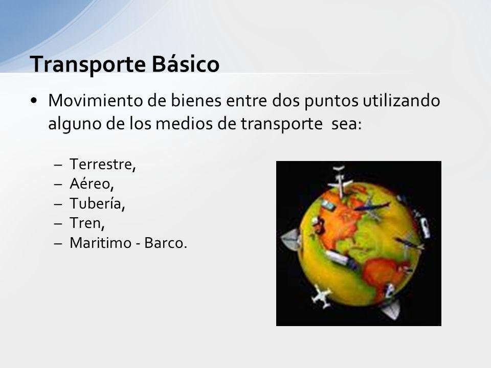 Sistema de transporte. Objetivo principal: Hacer llegar el producto desde el centro de producción al consumidor final en óptimas condiciones, es decir