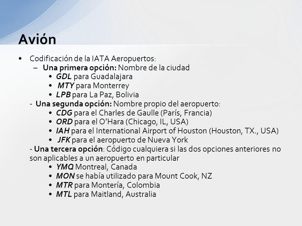 Avión Organizado por un organismo supranacional no gubermental denominado IATA (International Air Transport Asociation), cuyos miembros son las líneas