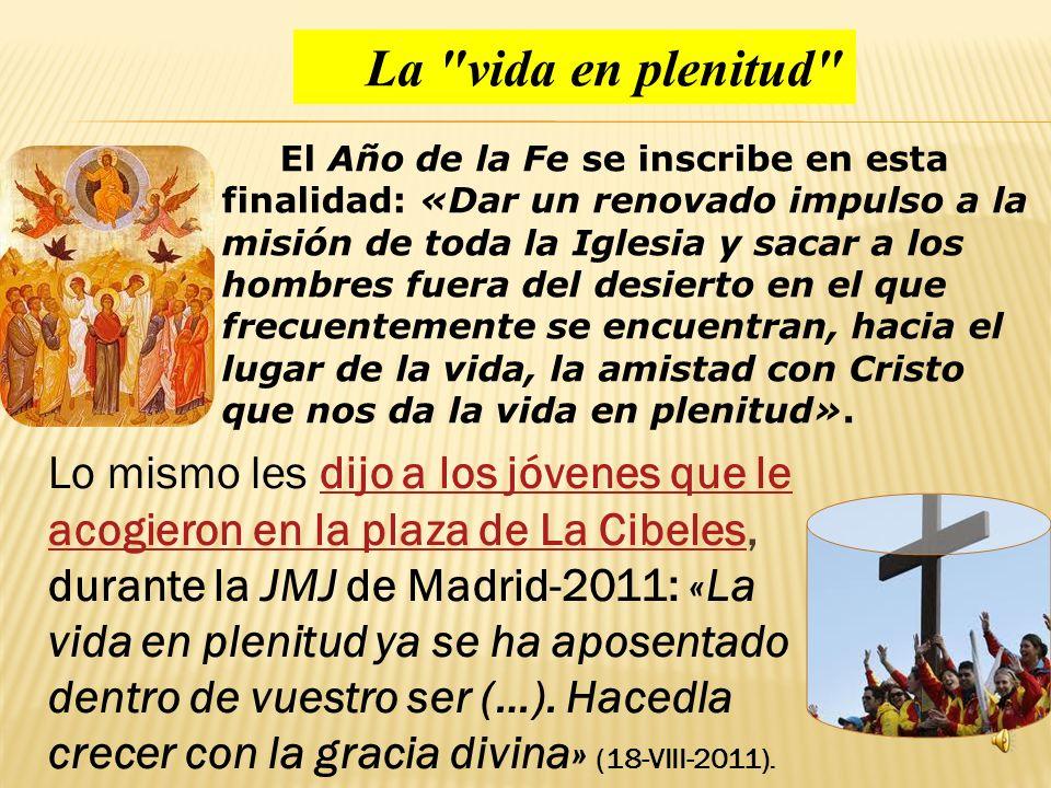 Conclu í a diciendo que, a ejemplo de Cristo (cf. Mt 22, 21), la Iglesia no se limita a distinguir el orden pol í tico del religioso. « La misi ó n de