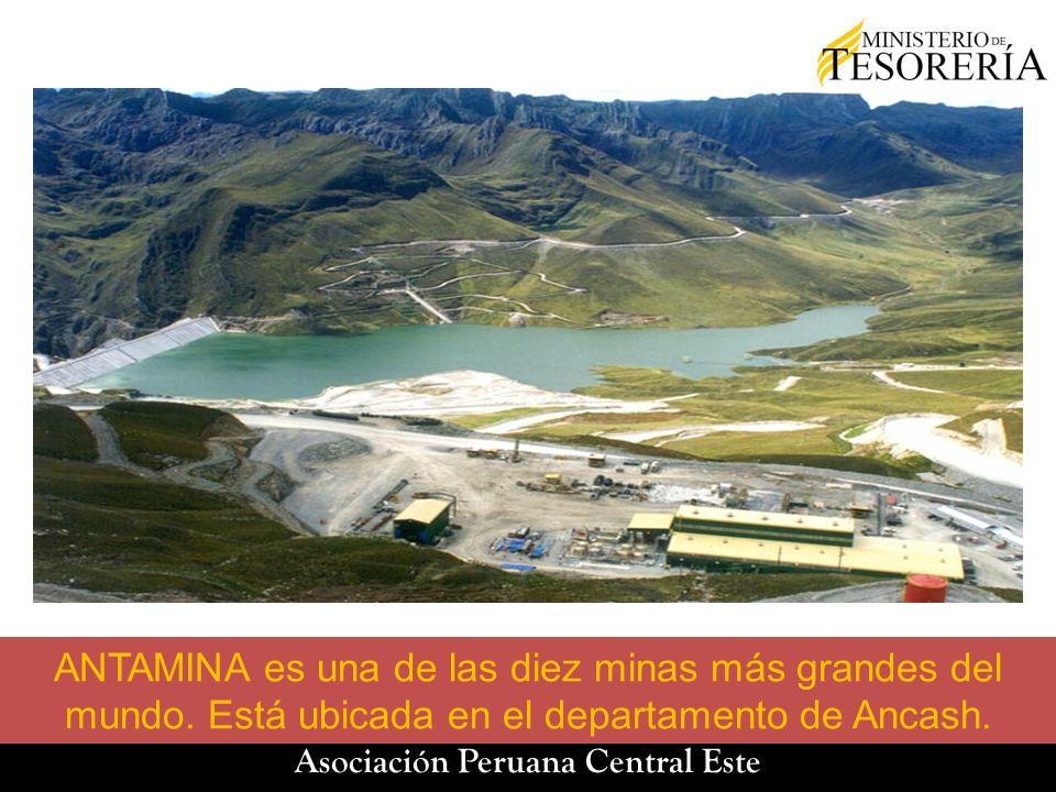 ANTAMINA es una de las diez minas más grandes del mundo. Está ubicada en el departamento de Ancash.