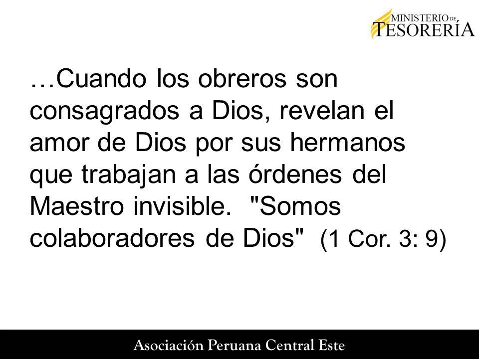 …Cuando los obreros son consagrados a Dios, revelan el amor de Dios por sus hermanos que trabajan a las órdenes del Maestro invisible.