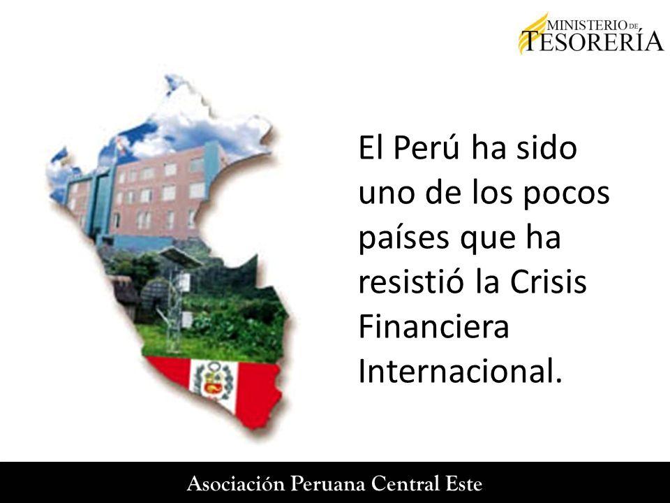 El Perú ha sido uno de los pocos países que ha resistió la Crisis Financiera Internacional.