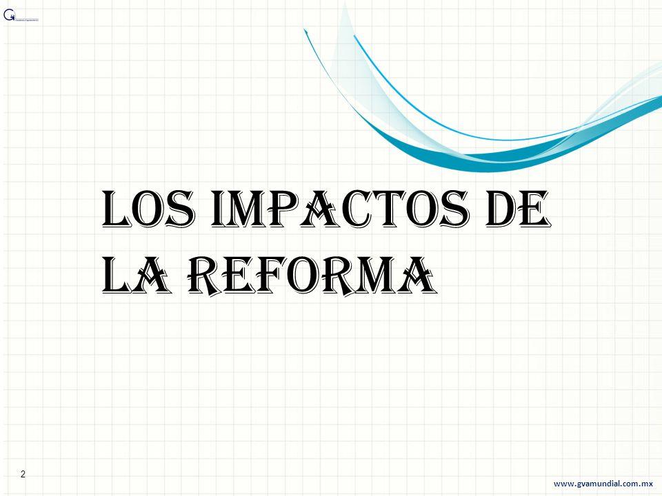 Los impactos de la reforma 2 www.gvamundial.com.mx
