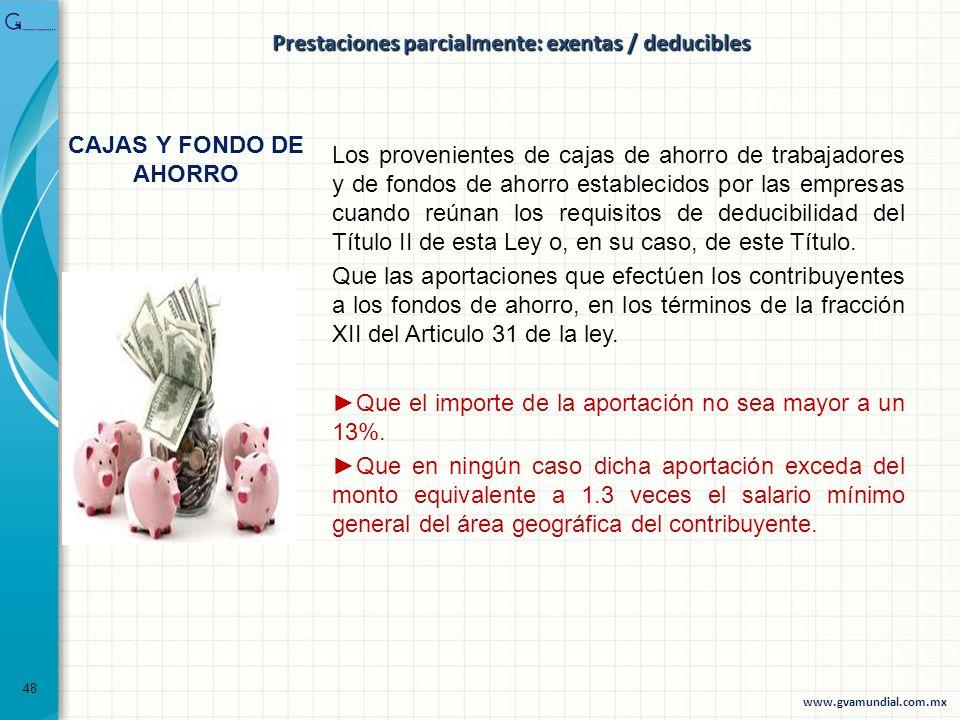 Los provenientes de cajas de ahorro de trabajadores y de fondos de ahorro establecidos por las empresas cuando reúnan los requisitos de deducibilidad