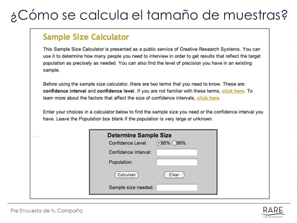 Pre Encuesta de tu Campaña ¿Cómo se calcula el tamaño de muestras?