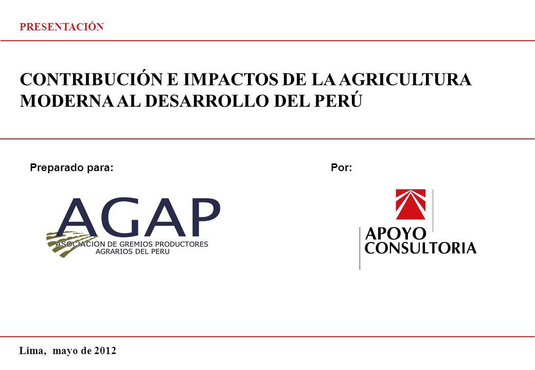 Preparado para: Este documento es confidencial y de uso exclusivo del cliente al cual va dirigido. Por: CONTRIBUCIÓN E IMPACTOS DE LA AGRICULTURA MODE