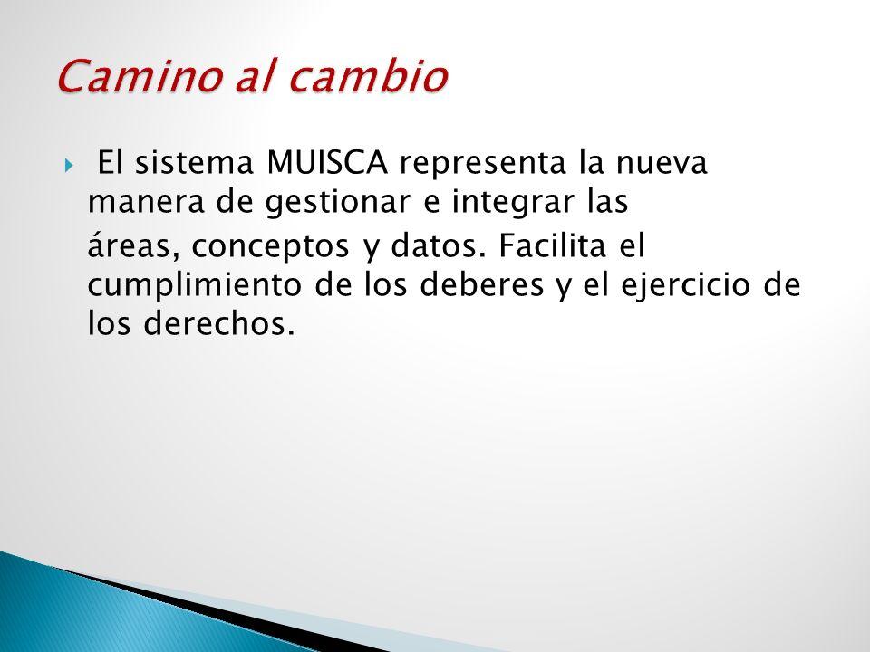 El sistema MUISCA representa la nueva manera de gestionar e integrar las áreas, conceptos y datos. Facilita el cumplimiento de los deberes y el ejerci