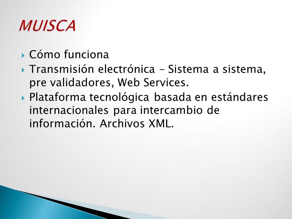 Cómo funciona Transmisión electrónica – Sistema a sistema, pre validadores, Web Services. Plataforma tecnológica basada en estándares internacionales