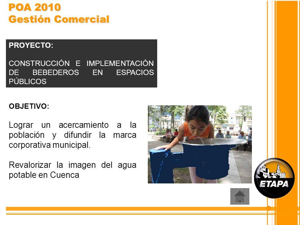 OBJETIVO: Lograr un acercamiento a la población y difundir la marca corporativa municipal. Revalorizar la imagen del agua potable en Cuenca PROYECTO: