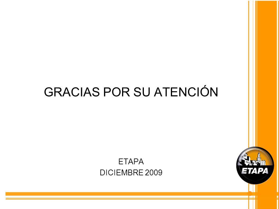 GRACIAS POR SU ATENCIÓN ETAPA DICIEMBRE 2009
