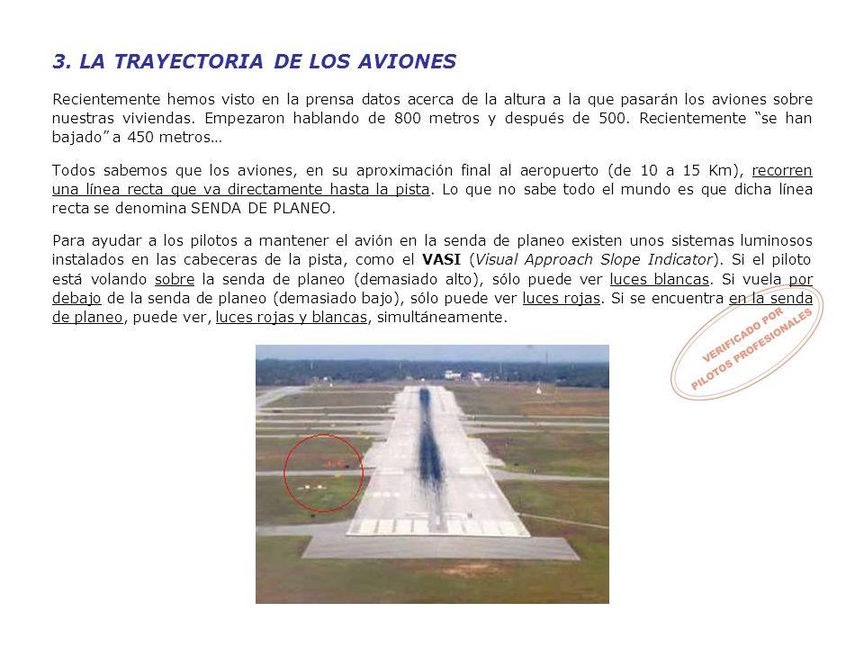 3. LA TRAYECTORIA DE LOS AVIONES Recientemente hemos visto en la prensa datos acerca de la altura a la que pasarán los aviones sobre nuestras vivienda