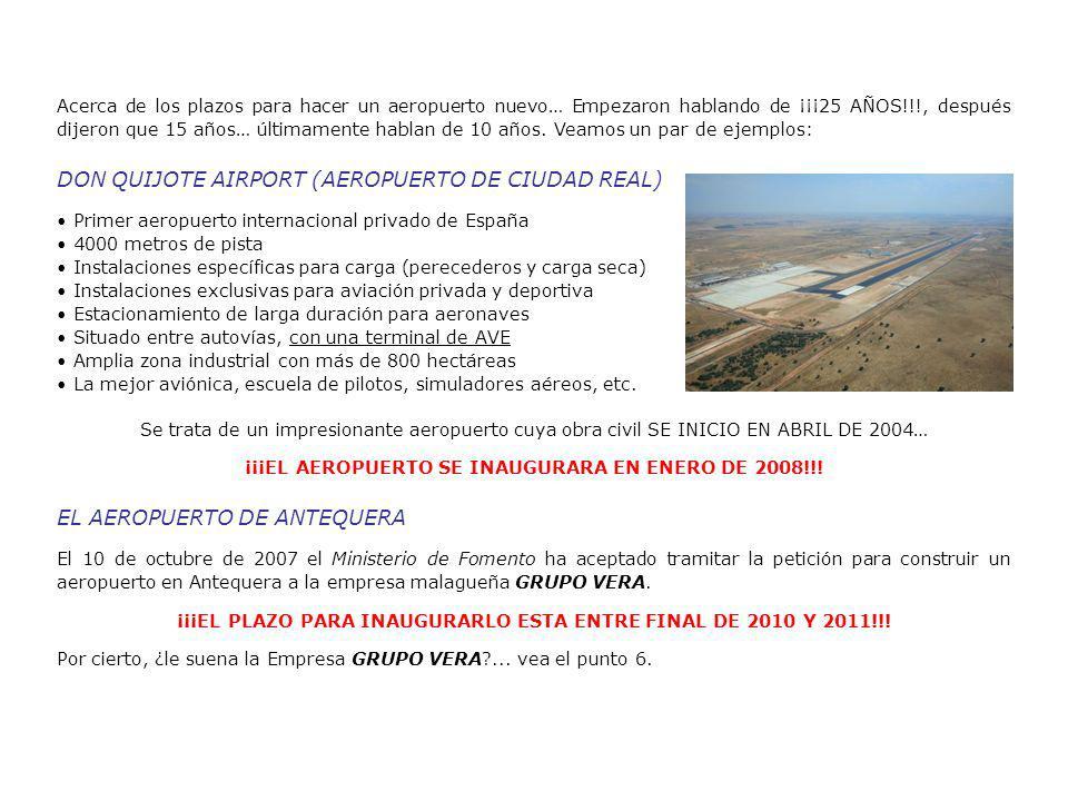 Acerca de los plazos para hacer un aeropuerto nuevo… Empezaron hablando de ¡¡¡25 AÑOS!!!, después dijeron que 15 años… últimamente hablan de 10 años.