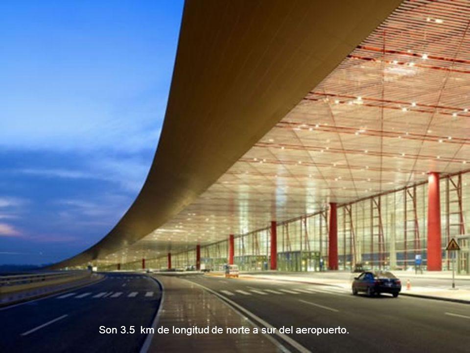Son 3.5 km de longitud de norte a sur del aeropuerto.