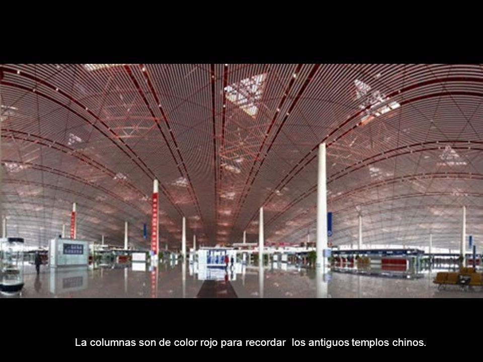 Elementos de la cultura china están esparcidos por todo el aeropuerto de Pekín.