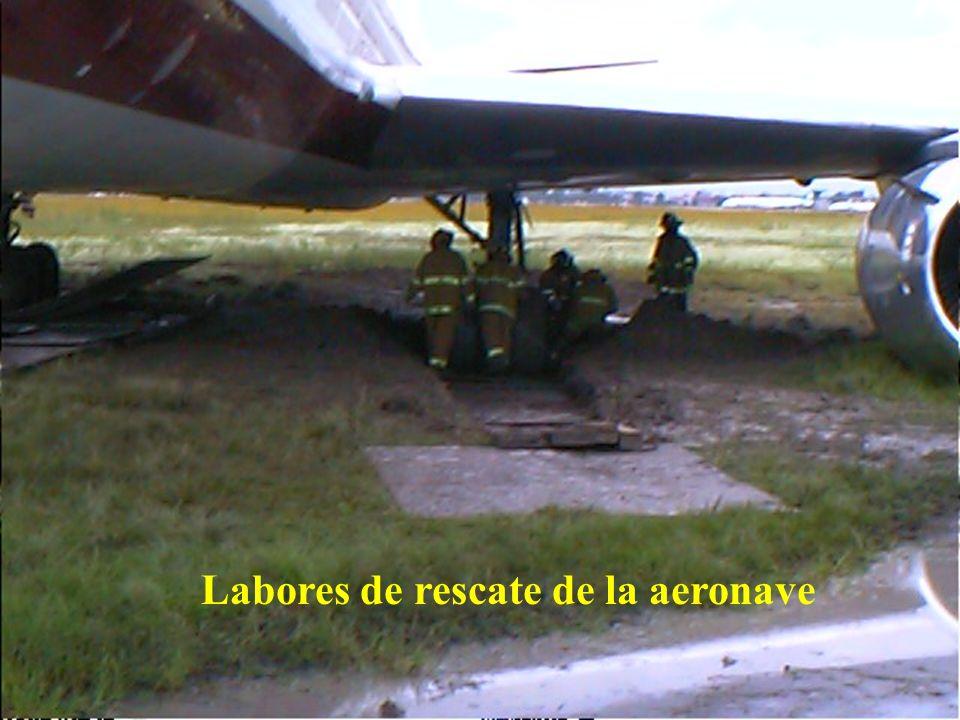 Direcciön General de Aeronáutica Civil Labores de rescate de la aeronave