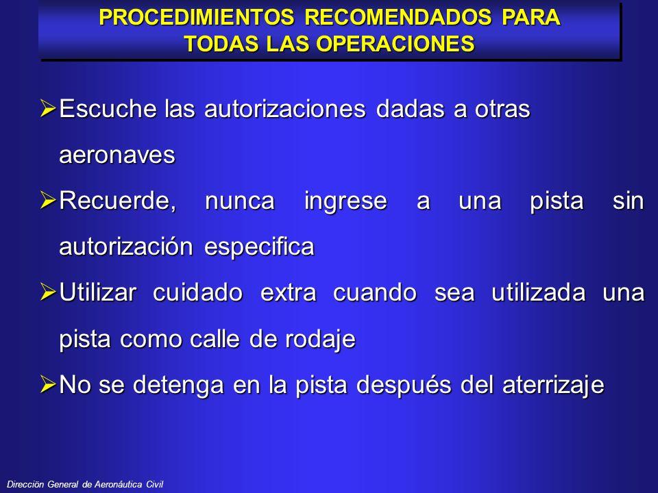 Direcciön General de Aeronáutica Civil INCURSIONES EN PISTA 1997 - 2000