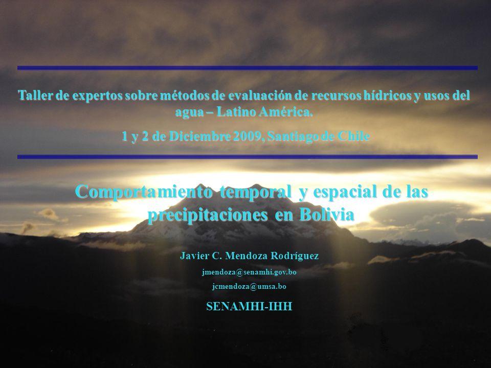 Taller de expertos sobre métodos de evaluación de recursos hídricos y usos del agua – Latino América.