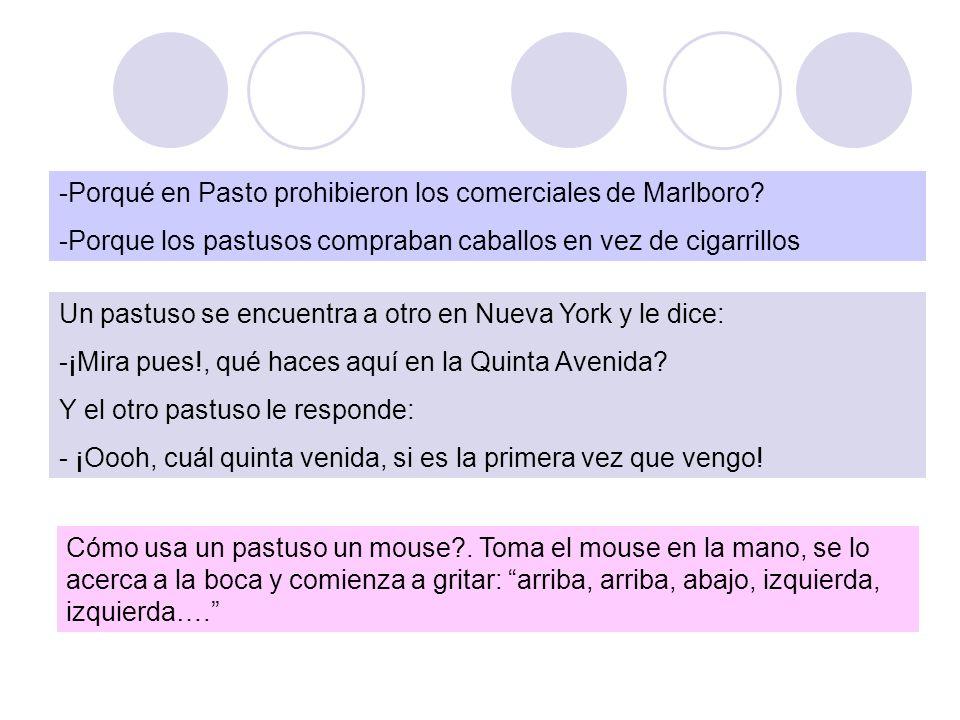 -Porqué en Pasto prohibieron los comerciales de Marlboro.