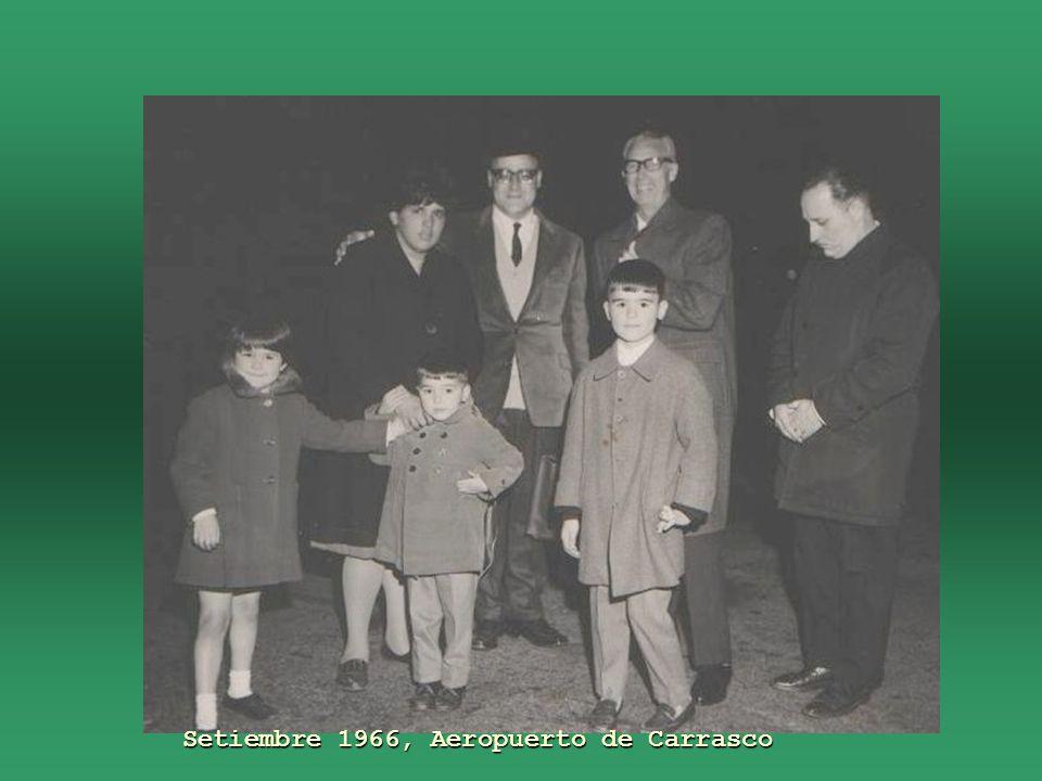 La familia, setiembre 1966, Aeropuerto de Carrasco Ruben (hijo) en camino