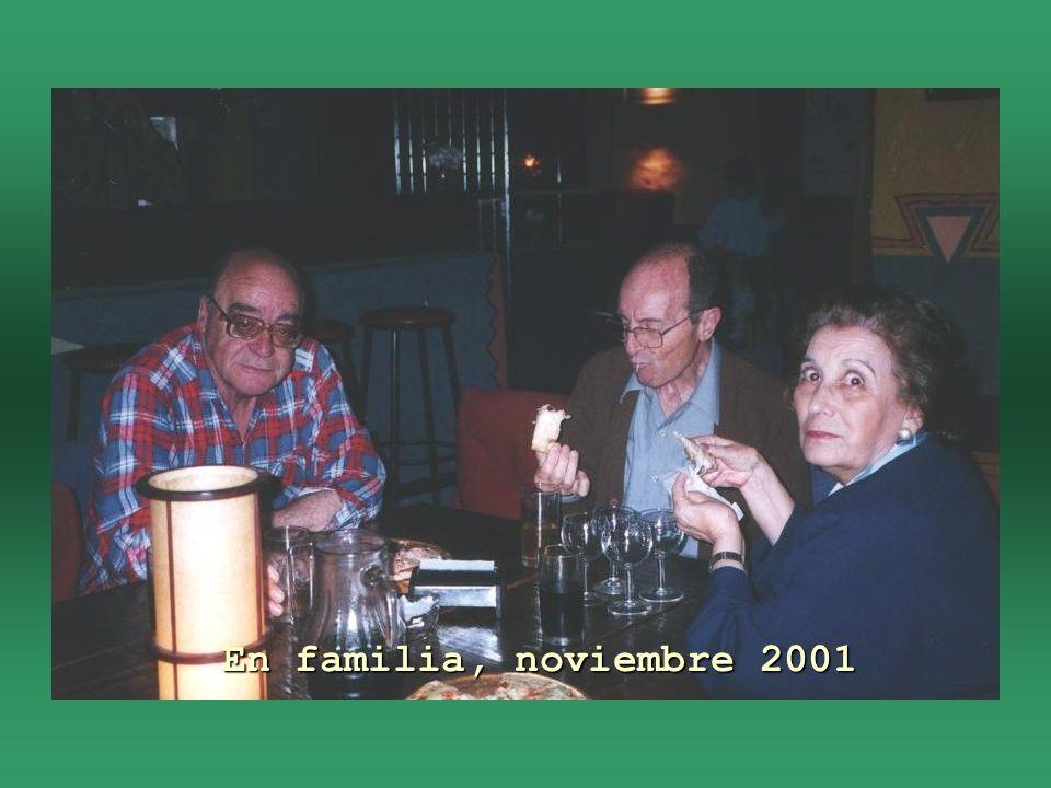 En familia, noviembre 2001