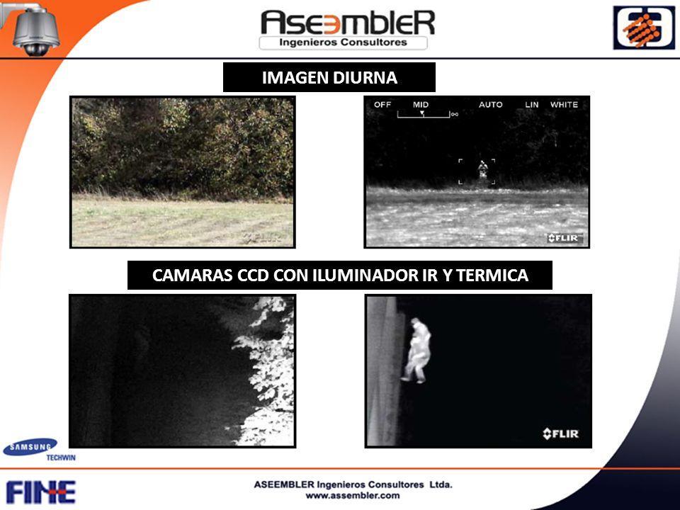 CAMARAS CCD CON ILUMINADOR IR Y TERMICA IMAGEN DIURNA