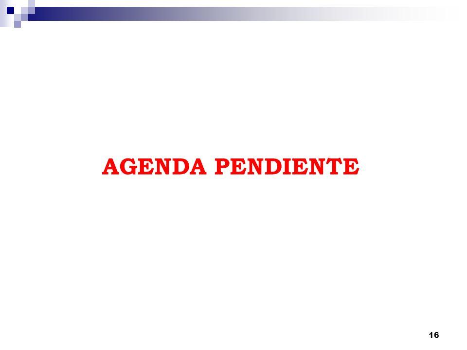 16 AGENDA PENDIENTE