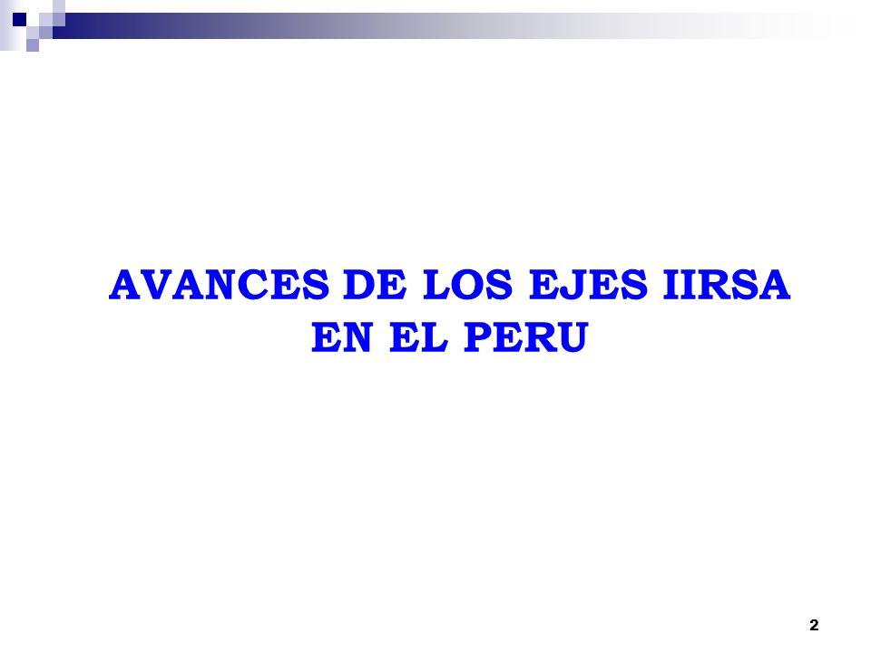 2 AVANCES DE LOS EJES IIRSA EN EL PERU