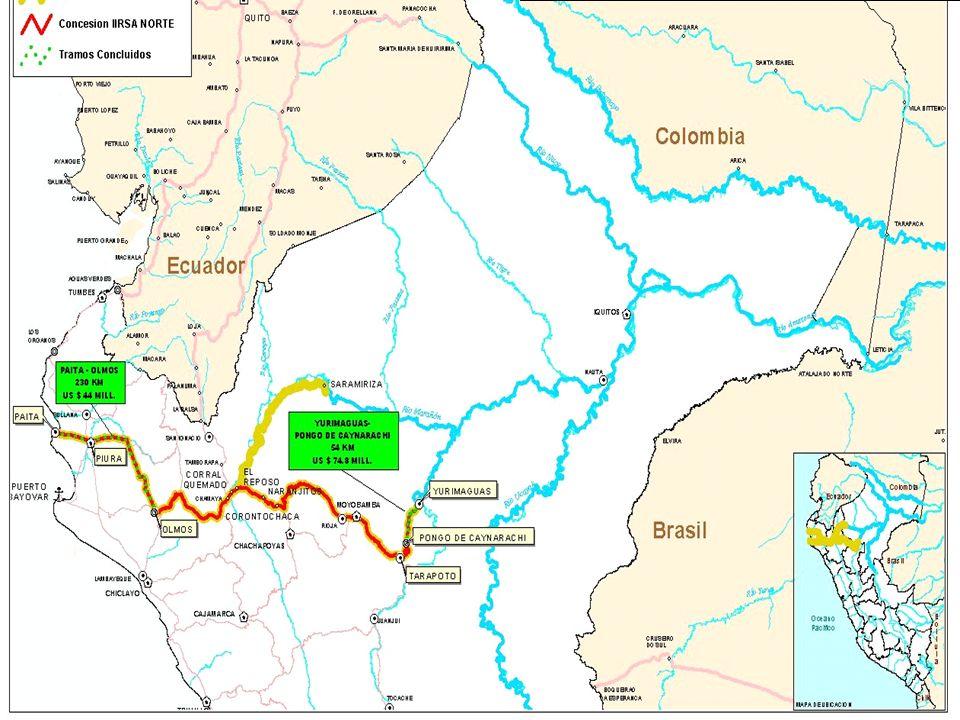 4 TRAMOS INAUGURADOS DEL EJE DEL AMAZONAS - RAMAL NORTE