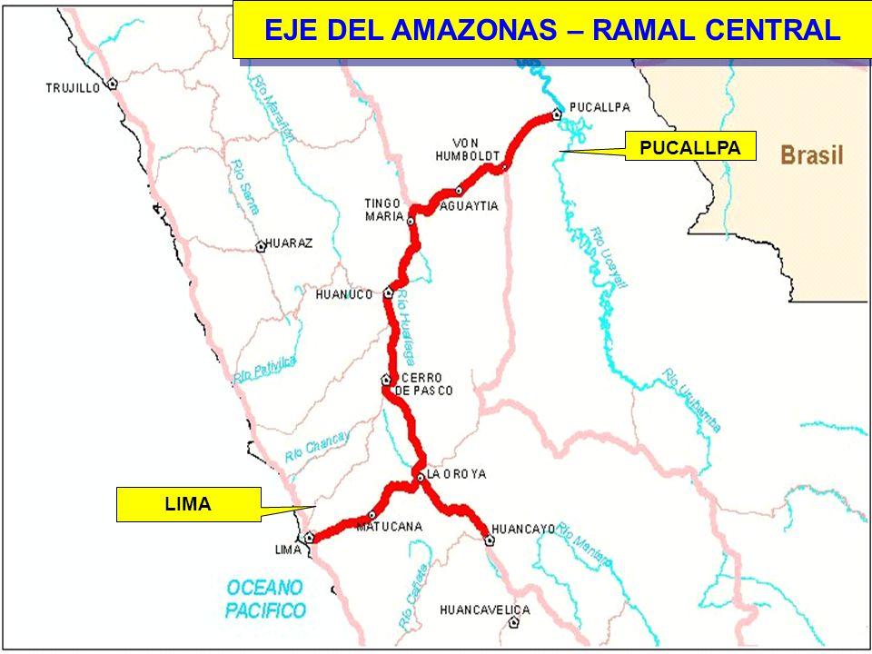 6 EJE DEL AMAZONAS – RAMAL CENTRAL LIMA PUCALLPA