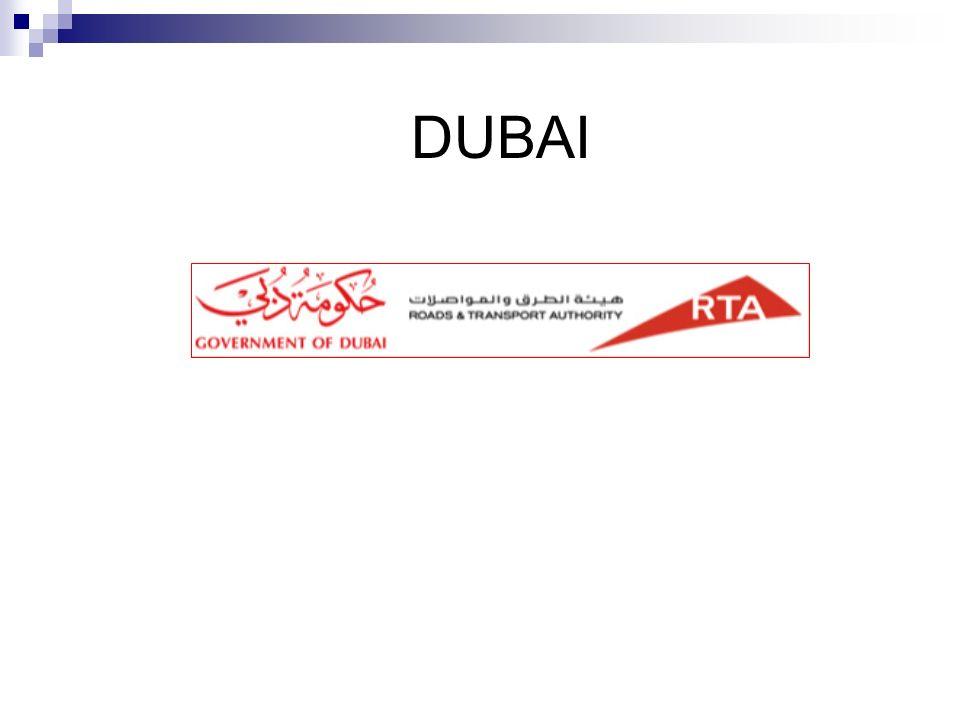 METRO DUBAI RTA (Roads & Tranports Authority) Organismo responsable de planificar y ejecutar los proyectos de transporte en el Emirato de Dubai.