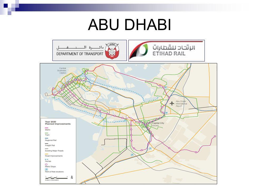 METRO ABU DHABI DoT (Department of Transport) www.dot.abudhabi.ae/en www.dot.abudhabi.ae/en Organismo encargado de la regulación, planificación y desarrollo del Sistema de Transporte del Emirato de Abu Dhabi.