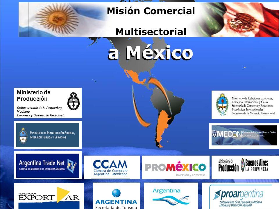 a México Misión Comercial Multisectorial a México Ministerio de Producción Subsecretaría de la Pequeña y Mediana Empresa y Desarrollo Regional