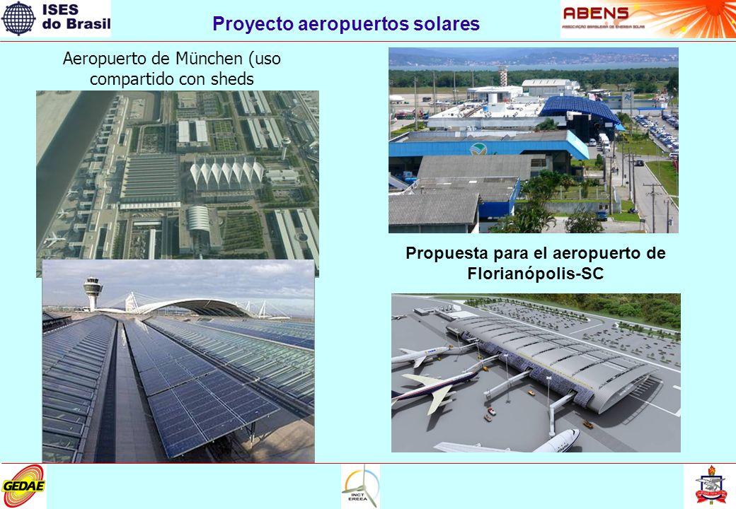 Proyecto aeropuertos solares Aeropuerto de München (uso compartido con sheds Propuesta para el aeropuerto de Florianópolis-SC
