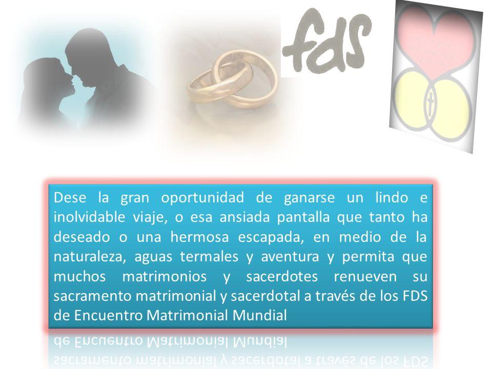 Adquiera acciones de la gran Rifa anual de Encuentro Matrimonial Mundial y gánese alguno de los siguientes grandes premios