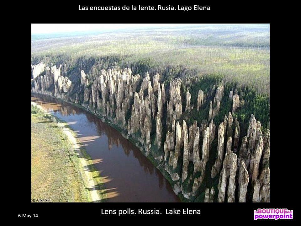 Las encuestas de la lente. Rusia. Lago Elena Lens polls. Russia. Lake Elena 6-May-14