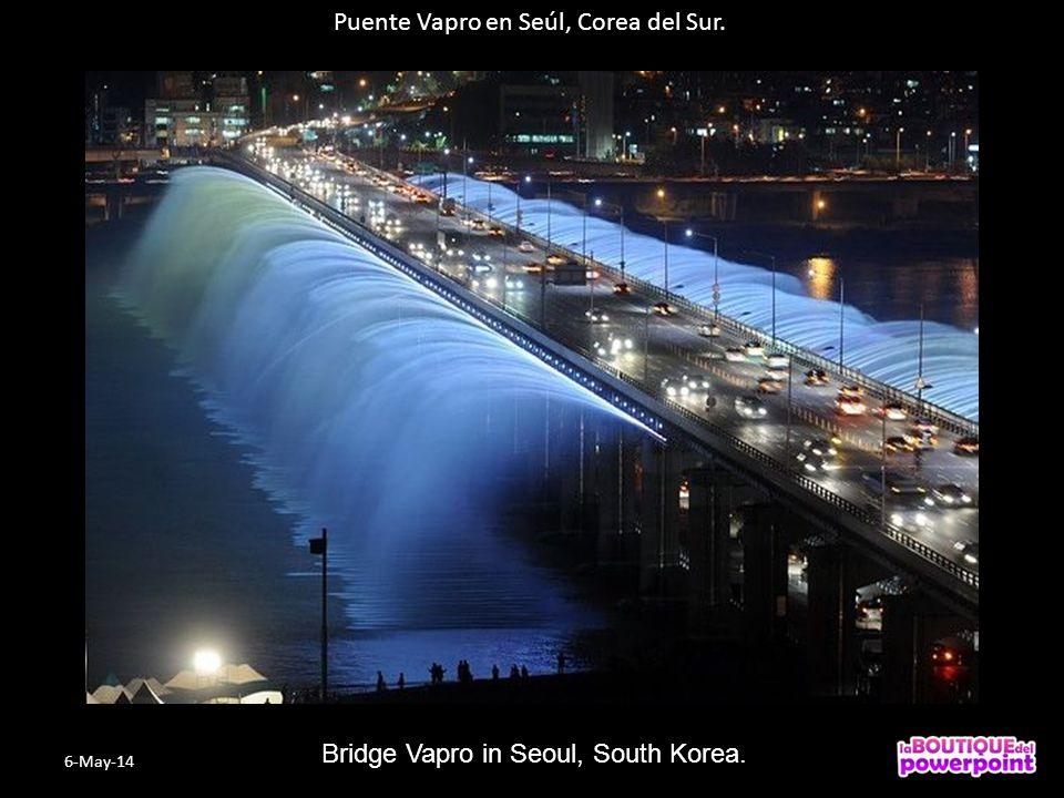 Puente Vapro en Seúl, Corea del Sur. Bridge Vapro in Seoul, South Korea. 6-May-14
